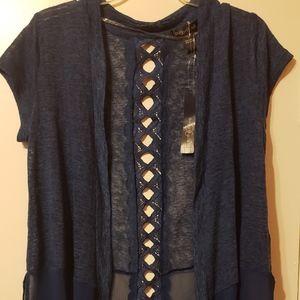 August Silk Knit Cardigan